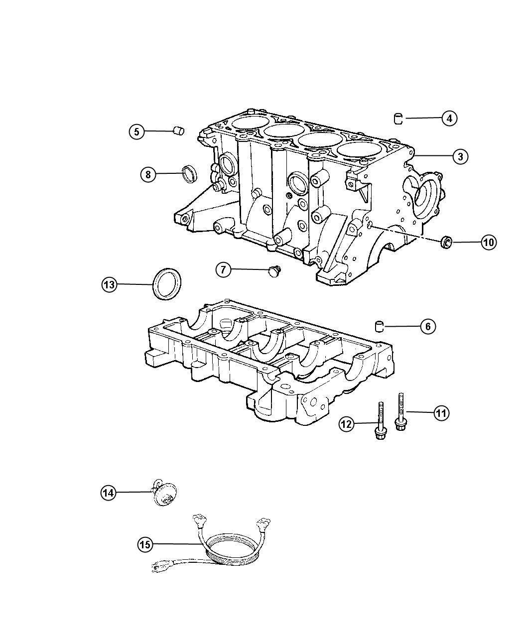 Chrysler Pt Cruiser Block Engine Short Short Block