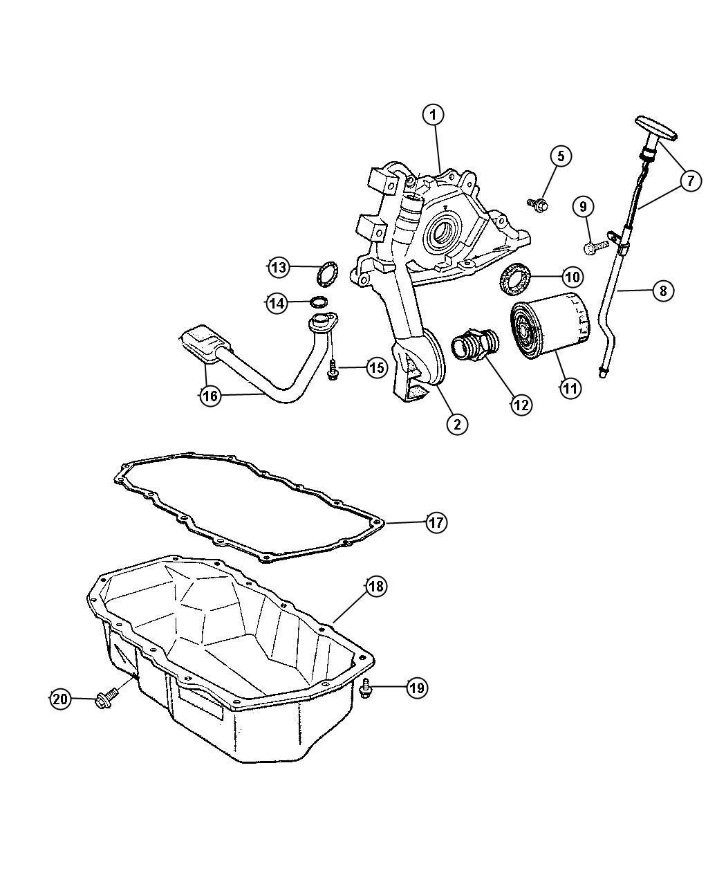 Jeep Wrangler Filter. Engine oil. Magneti marelli