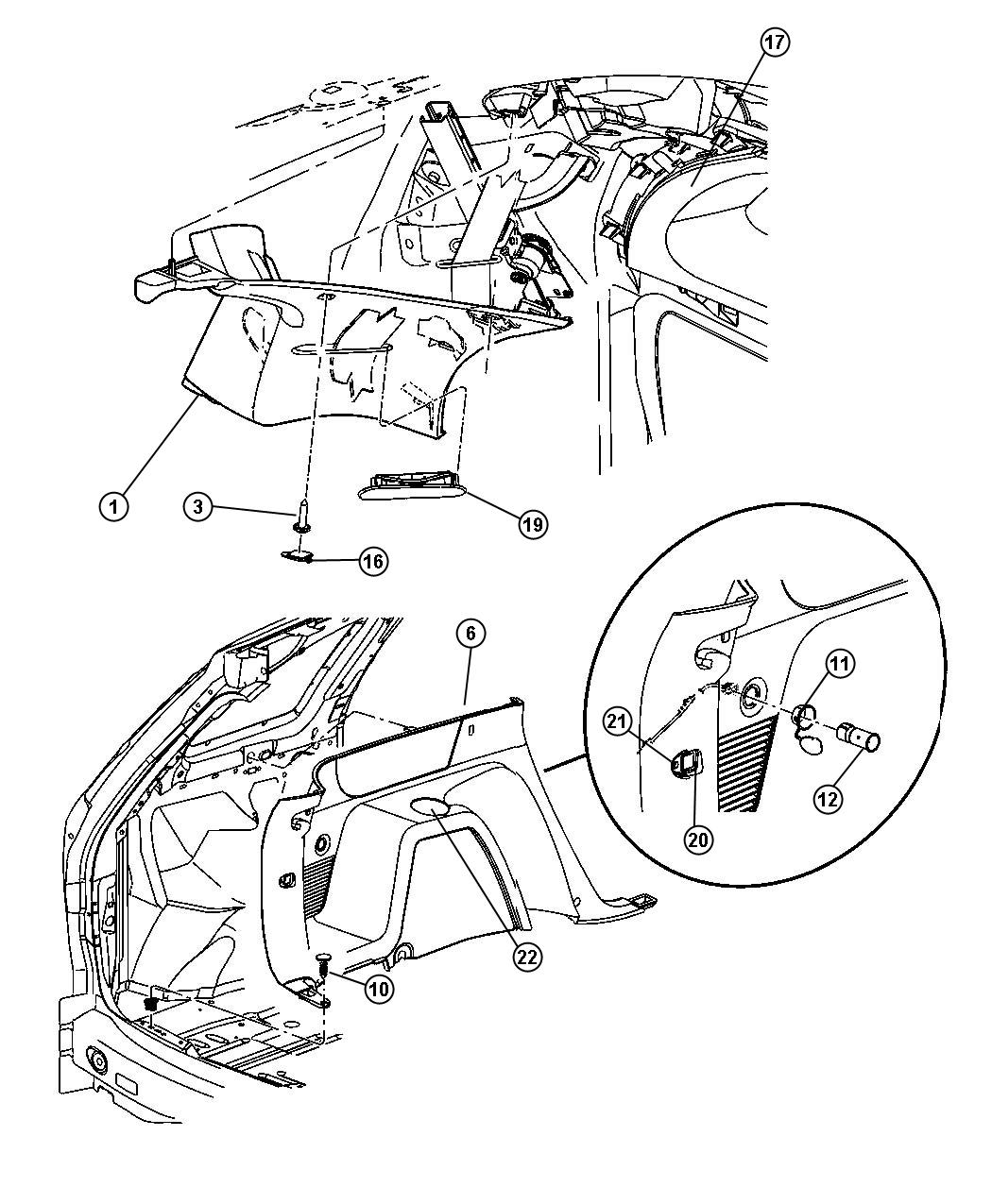 Chrysler Pacifica Grille. Speaker. [l2]. Trim: [all trim