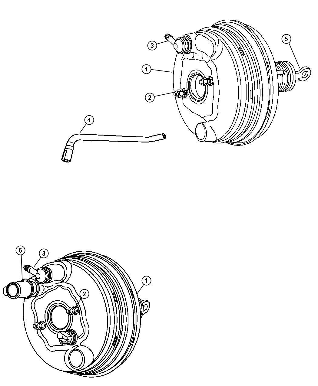 Chrysler 300 Hose. Brake booster vacuum. [eeo, ego], [[all