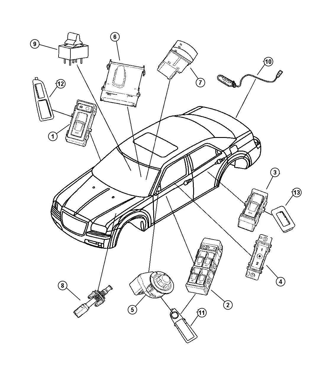 2007 Dodge Magnum BASE 2.7L V6 Switch. Liftgate release