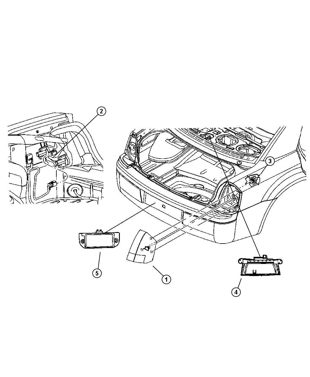 2007 Dodge Magnum SRT8 SRT8 6.1L Hemi SRT V8 Lamp. Licence