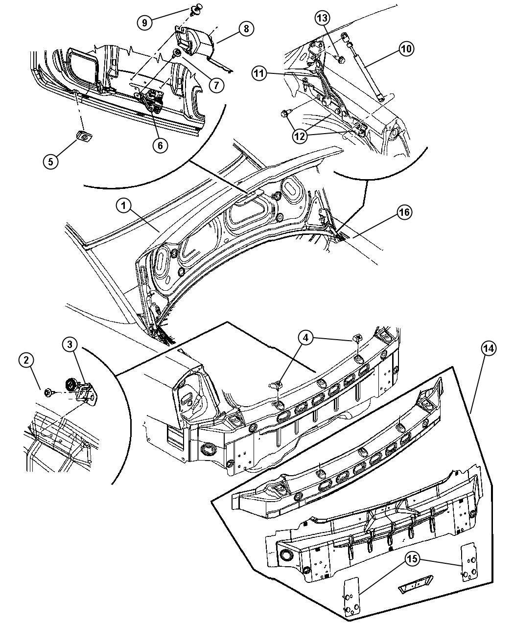 Chrysler 300 C 5 7l Hemi V8 Pin Push Pin Push In