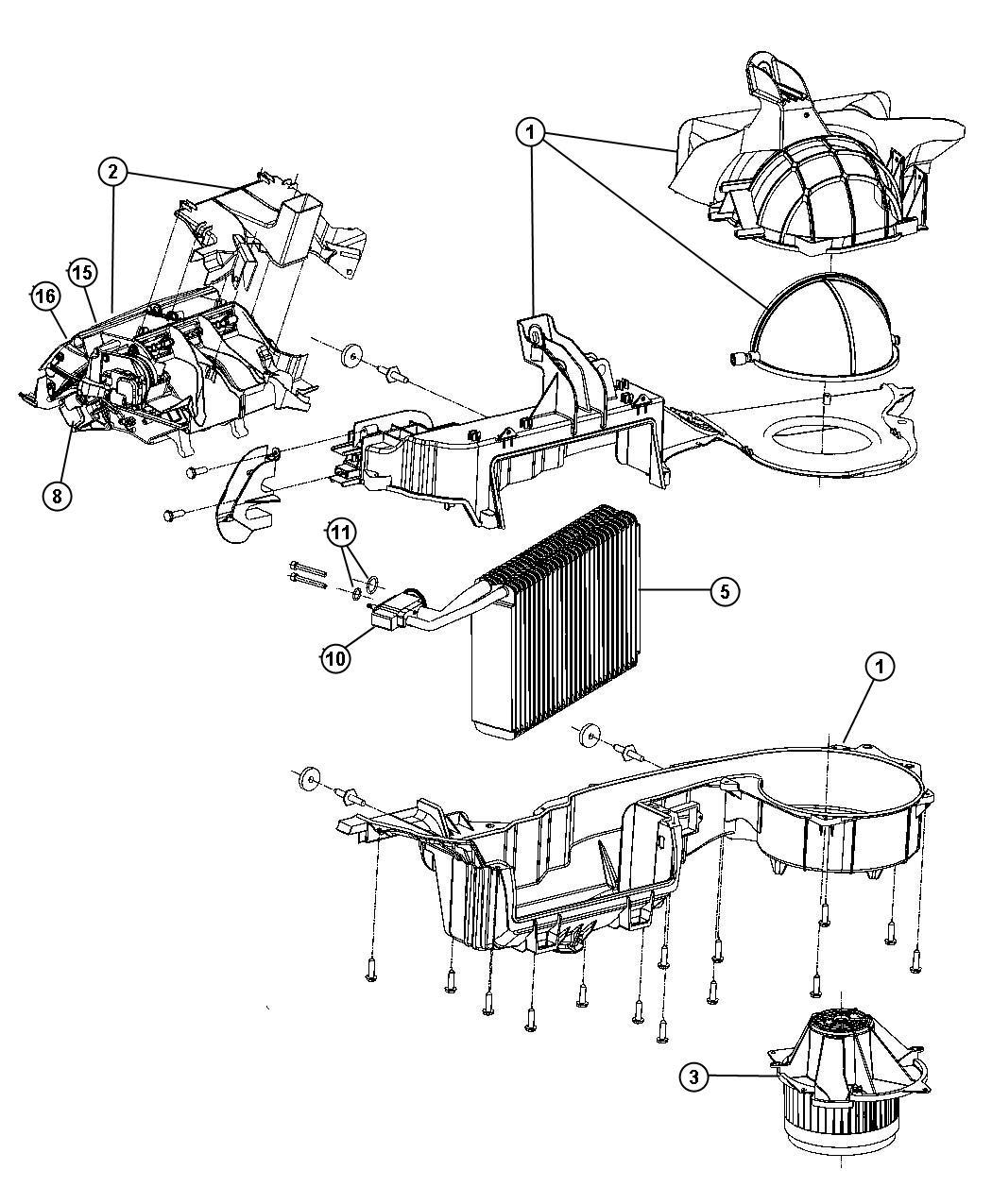 Chrysler 300 Housing Blower Motor Recirc