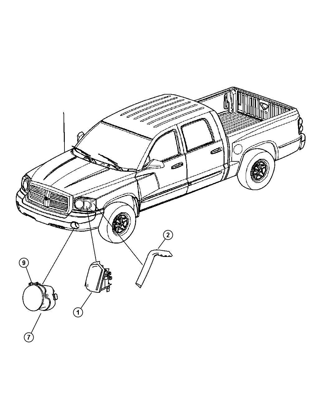 Dodge Dakota Slt Quad Cab 4 7l V8 A T 4x4 Lamp Used