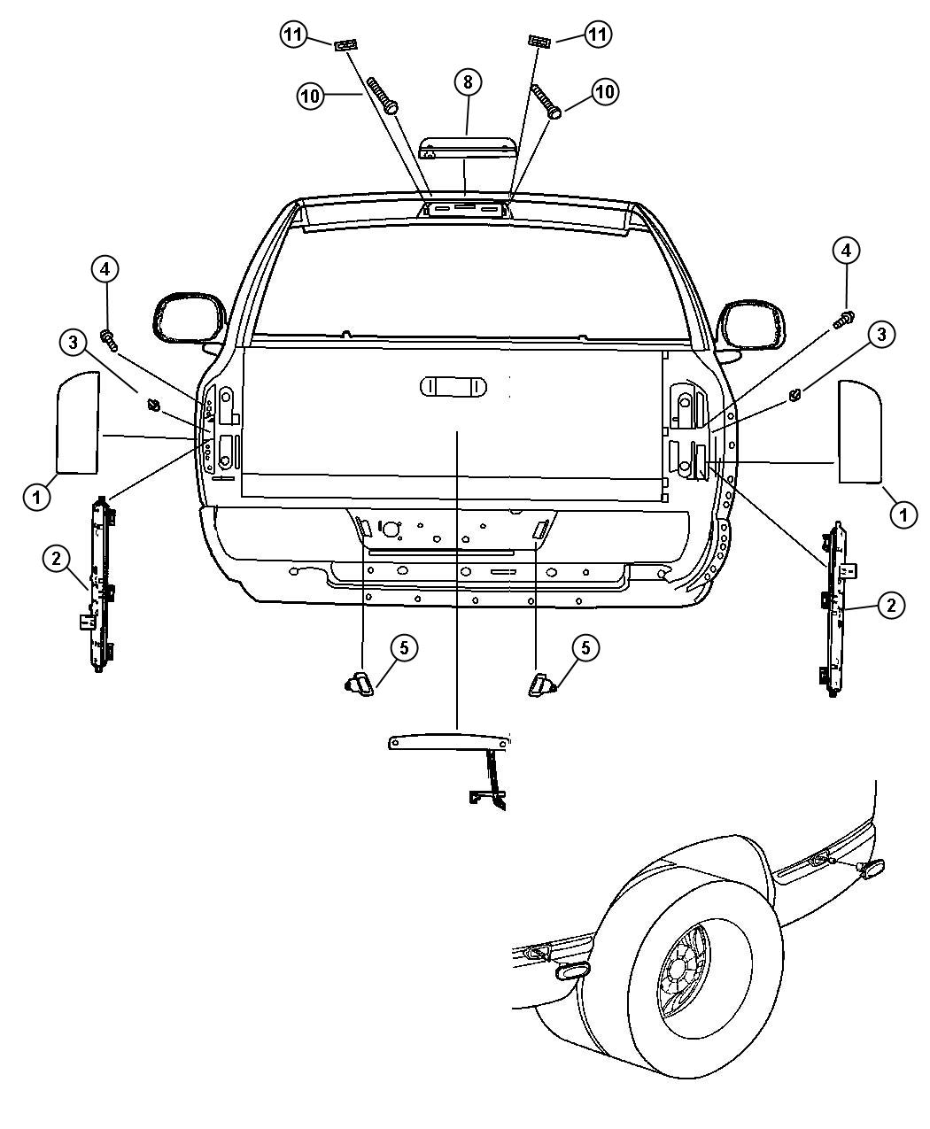 Dodge Ram 1500 Tailgate Part Diagram, Dodge, Free Engine