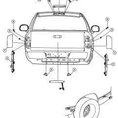 2004 Dodge Ram 1500 Parts Diagram Motorhome Wiring Diagrams Lamp Tail Stop Light Left 2500 3500 02 13