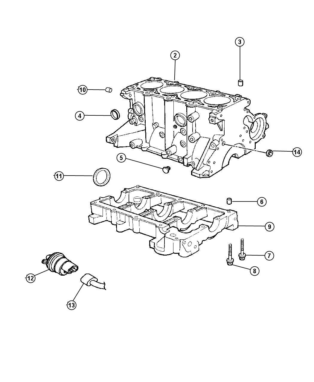 Chrysler Sebring Heater Engine Block 2 4l Engine