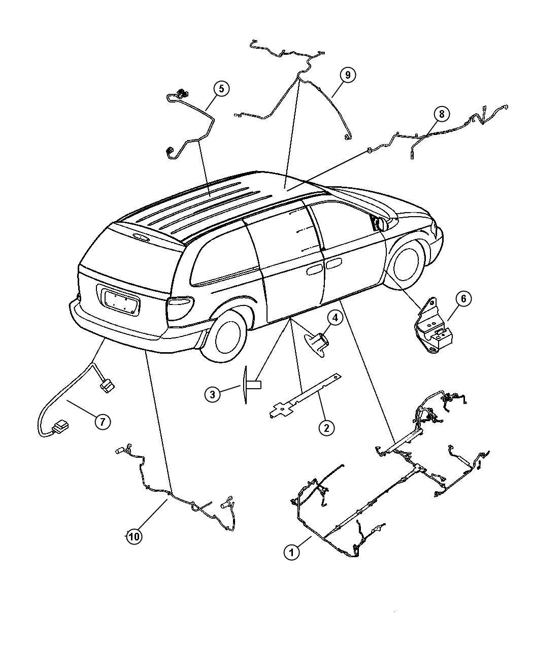 Dodge Caravan Wiring. Unified body. [anti-lock brakes