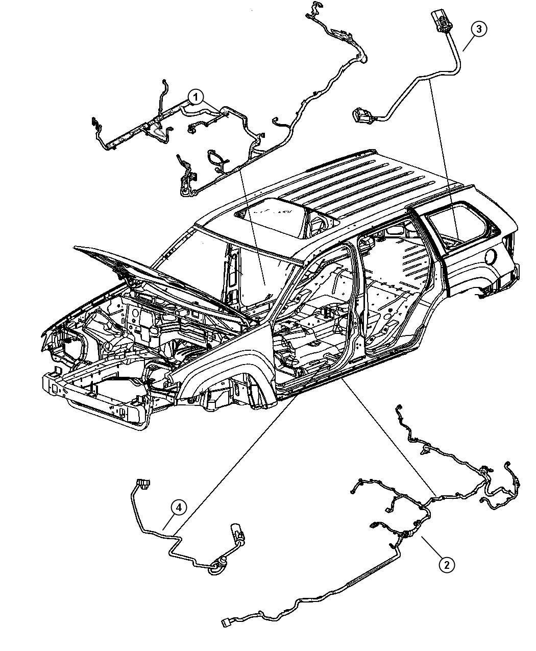 Jeep Grand Cherokee Wiring Underbody Quadra Trac Ii