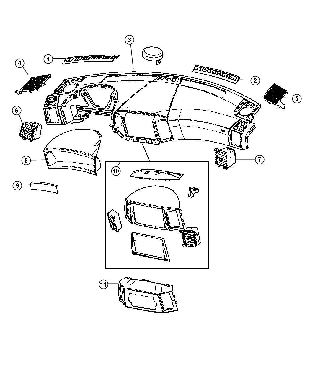 Jeep Grand Cherokee Grille. Instrument panel speaker