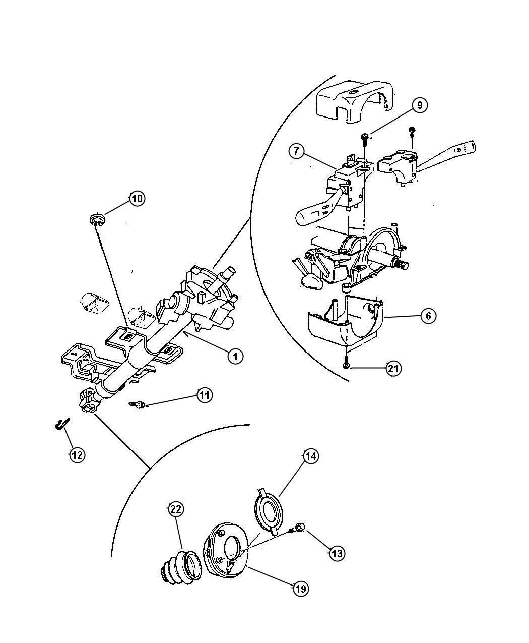 Dodge Neon Column Steering Tilt With Automatic Abb
