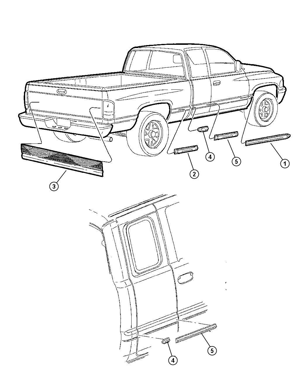2001 Dodge Ram 1500 Applique. Tailgate. Appliquedual