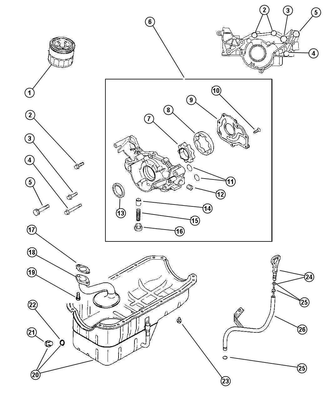 Chrysler Cirrus Bolt Hex Flange Head M8x30 Engine Front