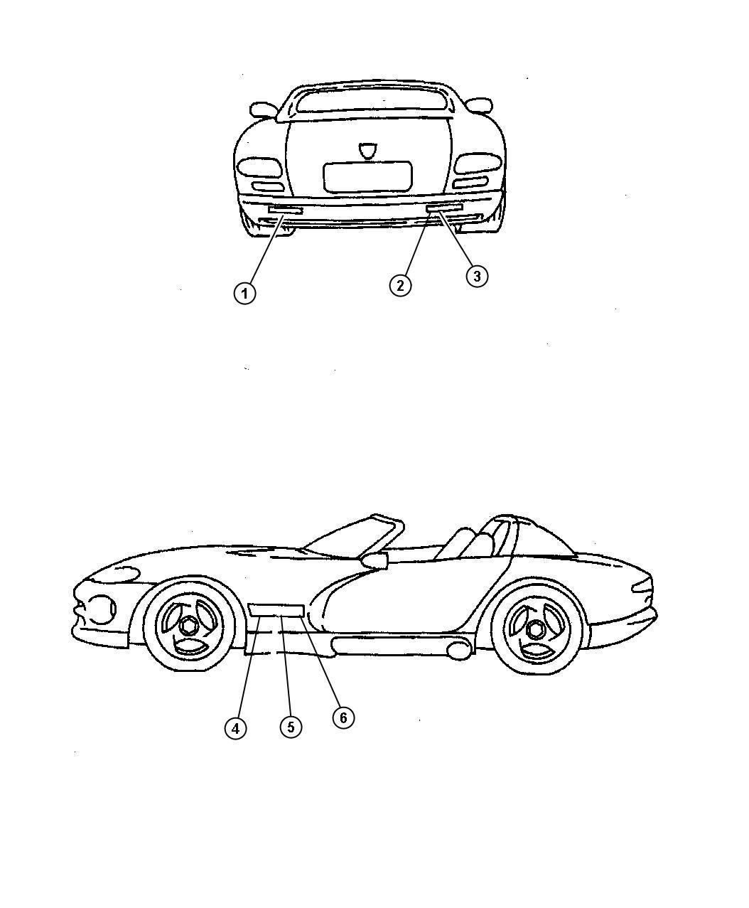 Dodge Viper Decal. Dodge. [s6]. Color: [no description