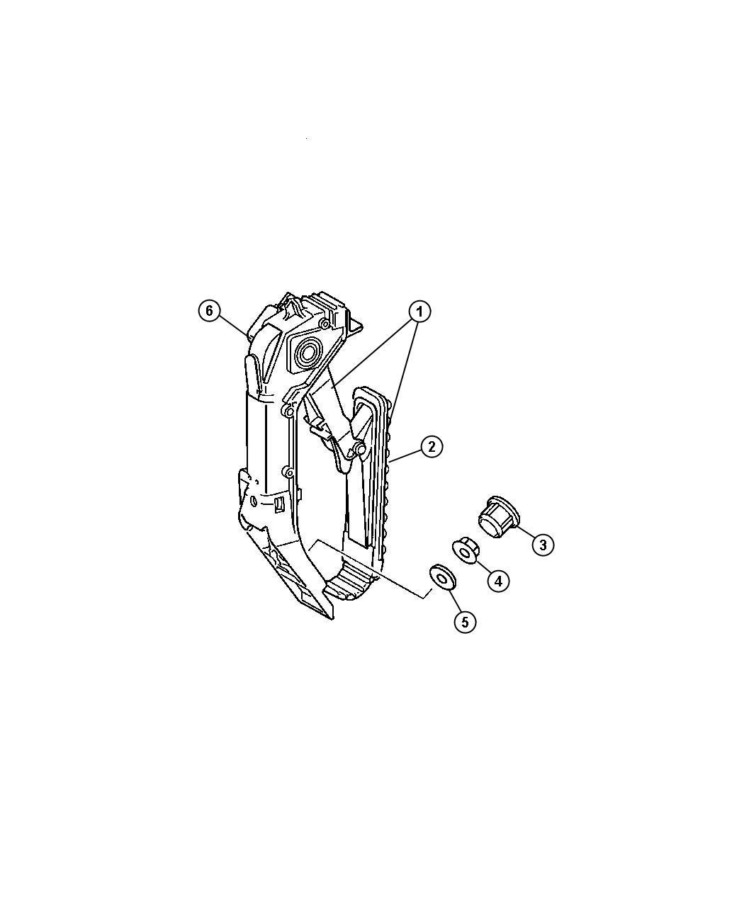 Chrysler Crossfire Bracket. Pedal. Pedalclutch