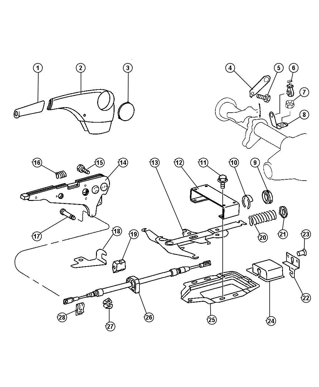 Dodge Sprinter Grommet Parking Brake Cable