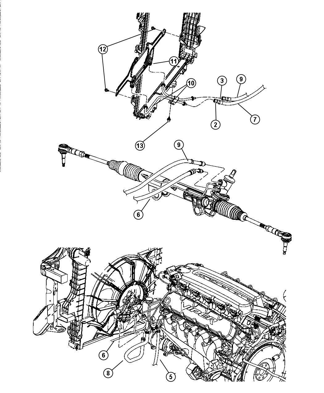 Dodge Ram 1500 Line. Power steering. [steering