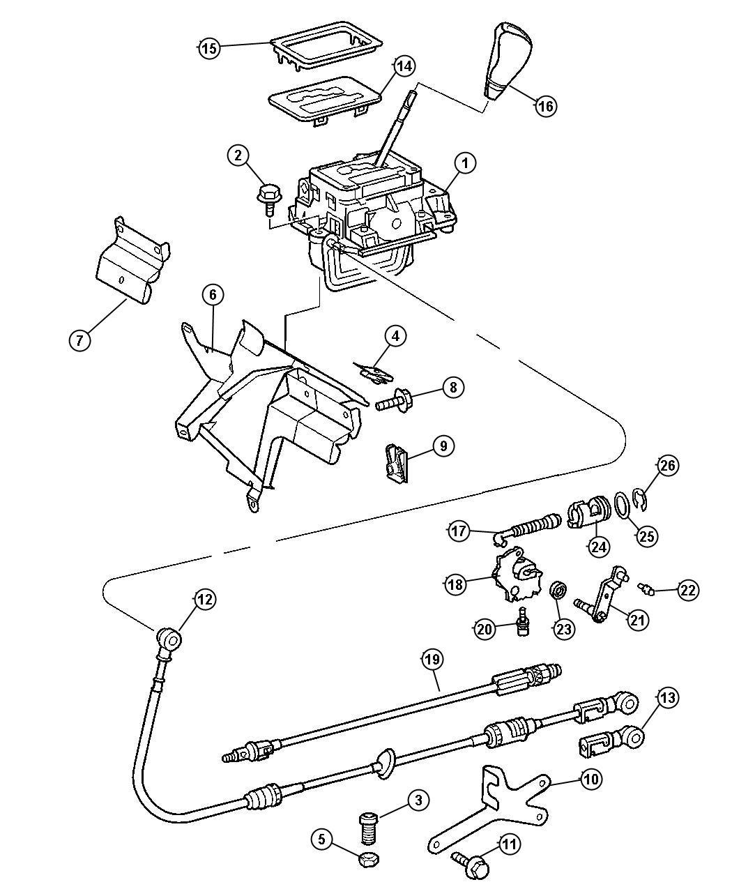 Dodge SPRINTER Cable. Gear selector. Transmissionnafta