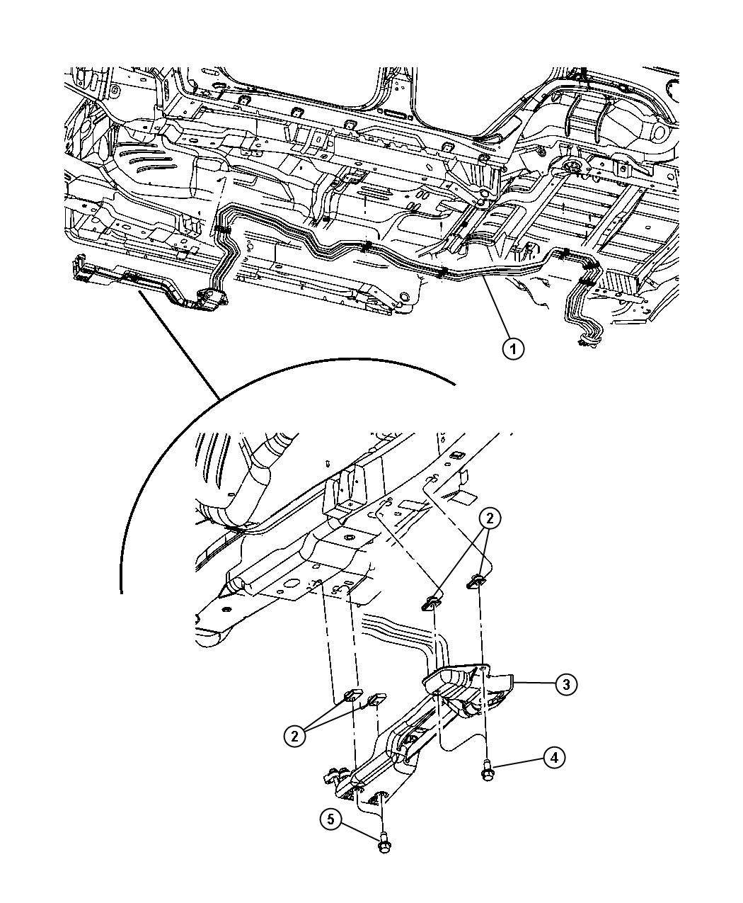 Jeep Commander Line. Used for: a/c and heater underbody