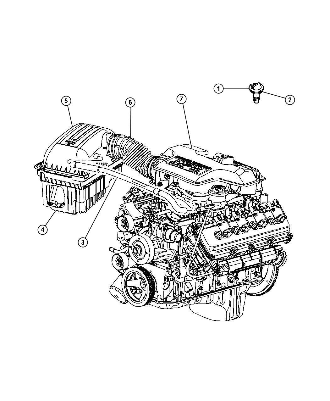 2005 Dodge Magnum R/T 5.7L Hemi V8 Valve. Crankcase vent