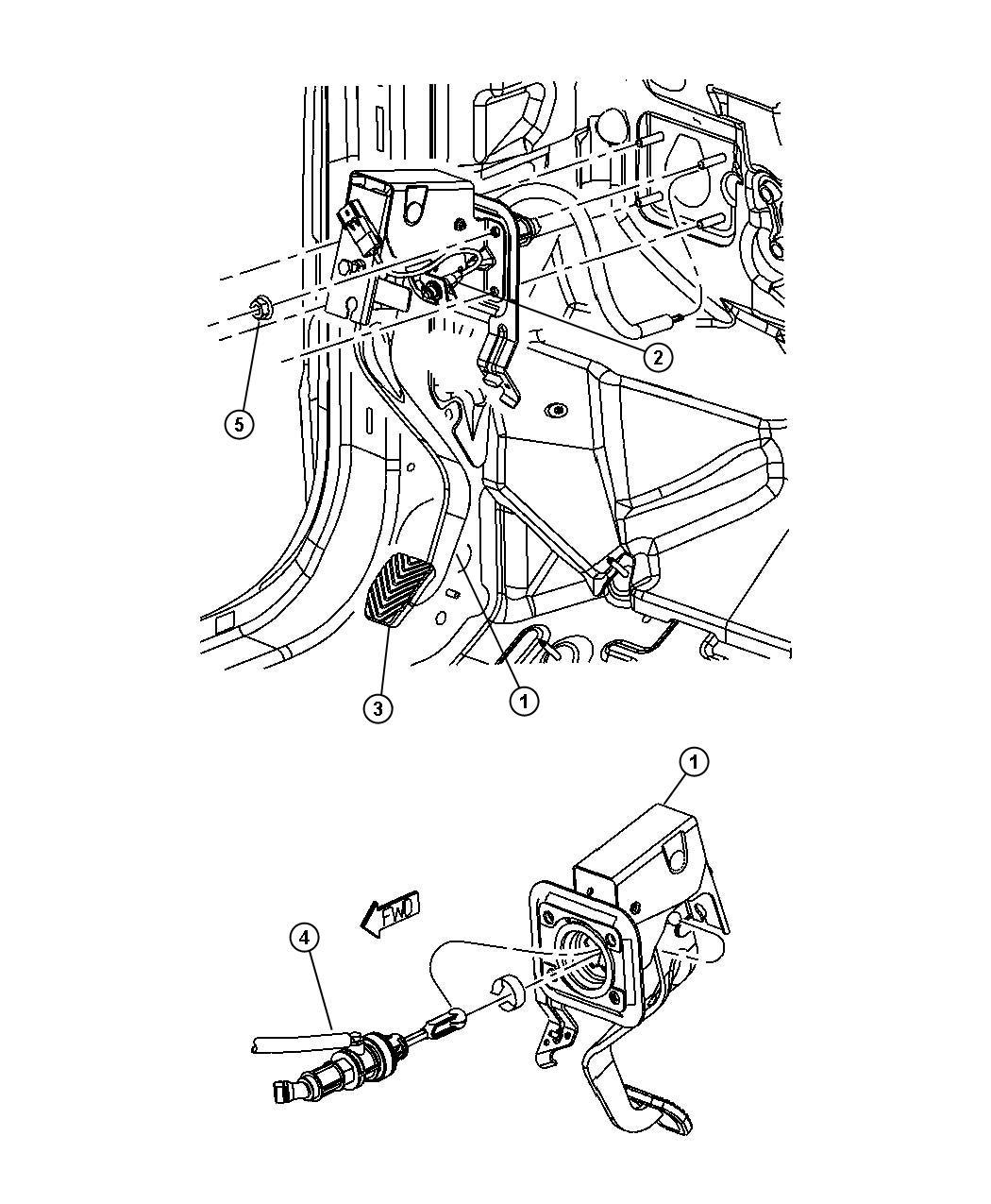 Dodge Caliber Pedal. Clutch. [6-speed manual aisin bg6