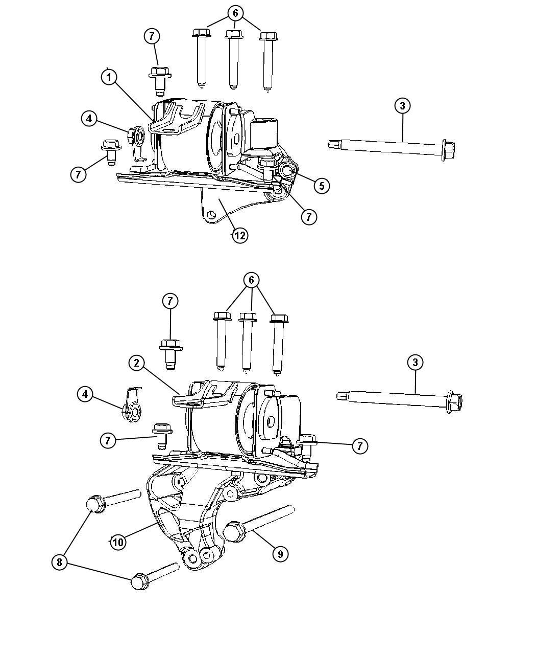 Dodge Caliber Engine Mount Right