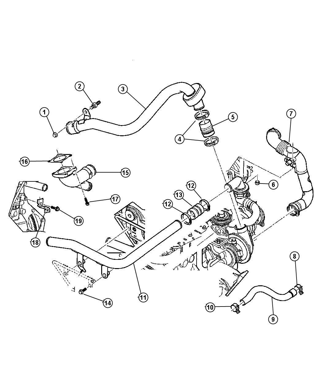 2012 Dodge Grand Caravan CREW 3.6L V6 Connector. Repairs