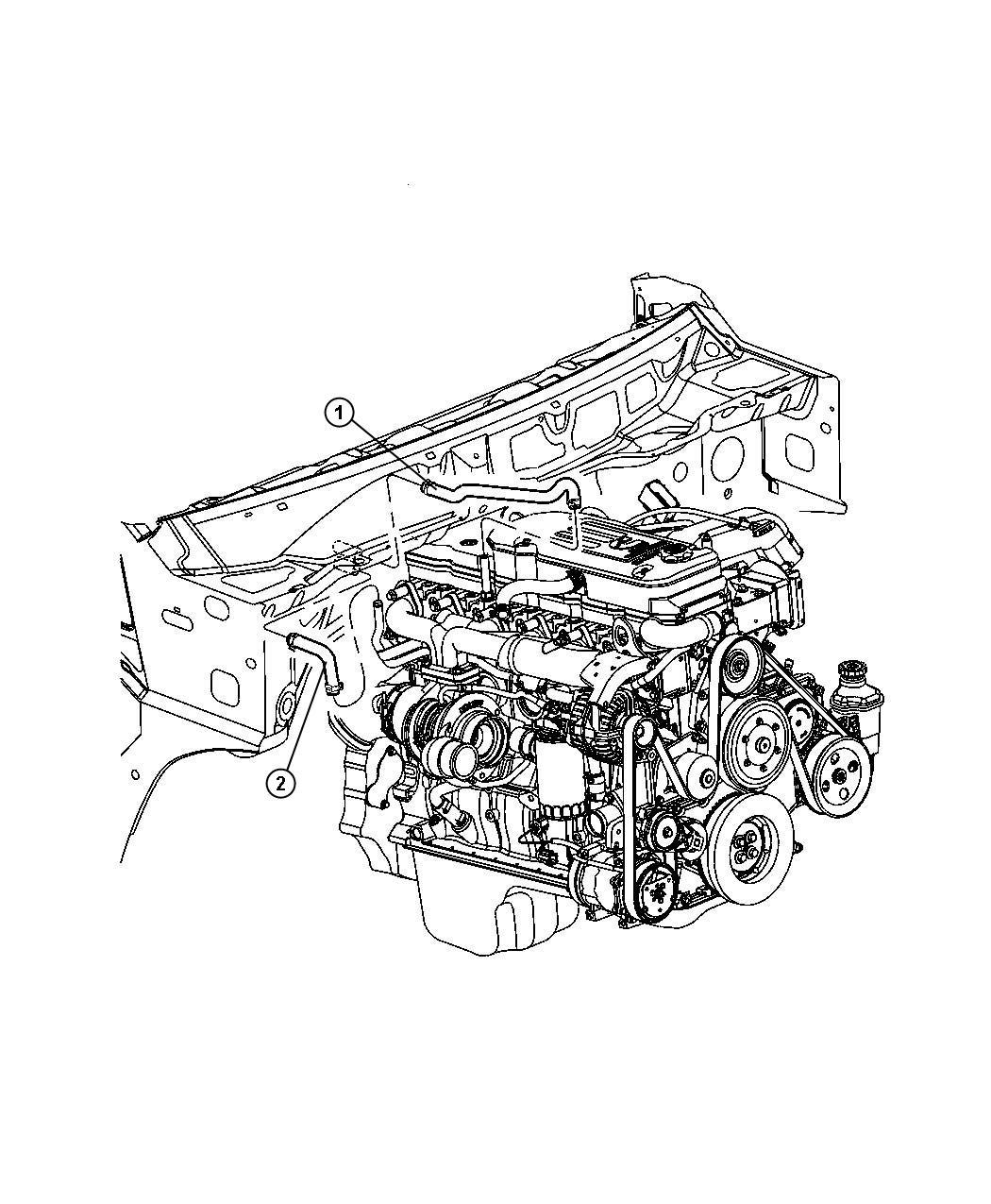 2008 Dodge Ram 2500 Hose. Heater, heater supply