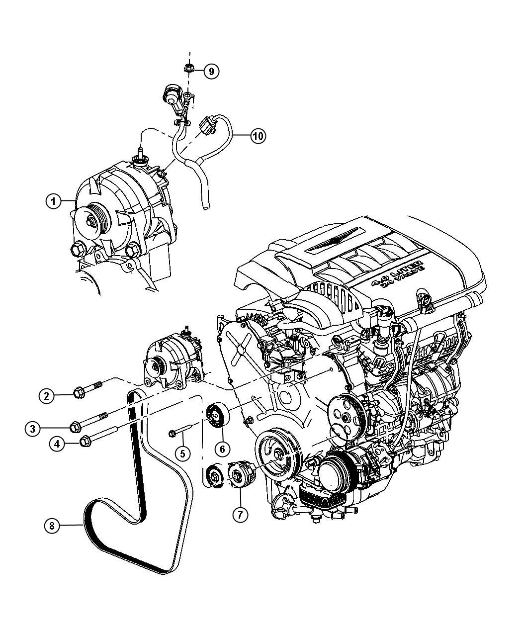 Chrysler Pacifica Generator. Engine. Remanufactured. [160