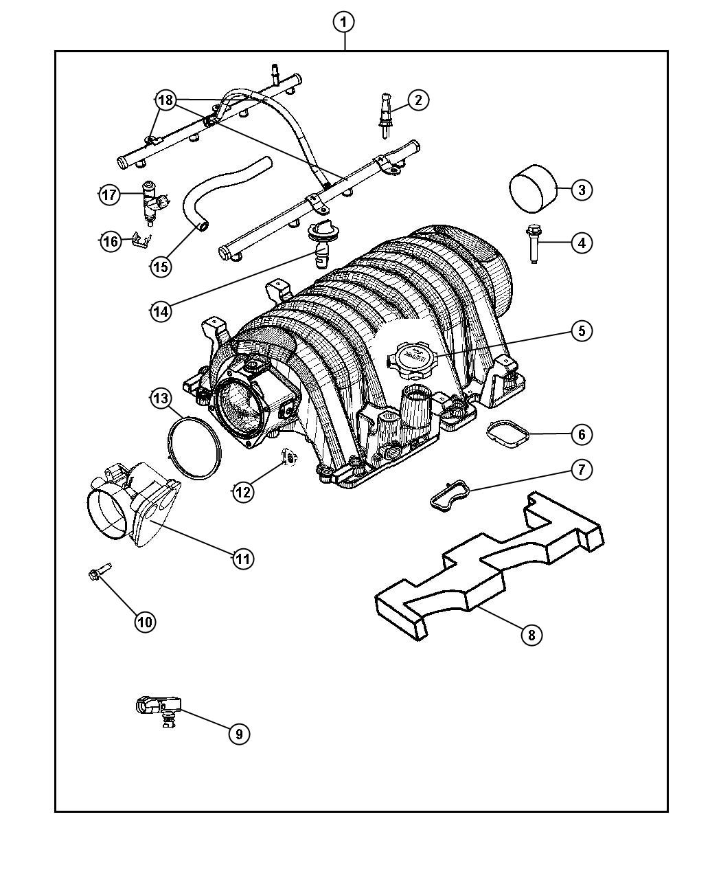 2006 Dodge Charger R/T 5.7L Hemi V8 Manifold. Intake