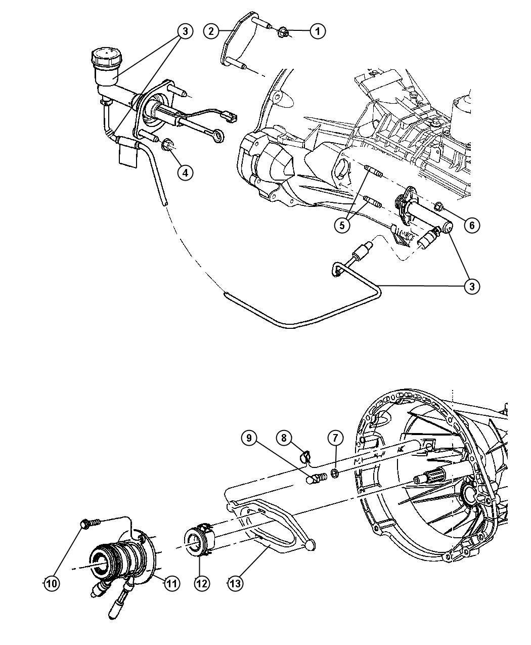 Dodge Ram 1500 Cylinder. Clutch slave. Controlshydraulic