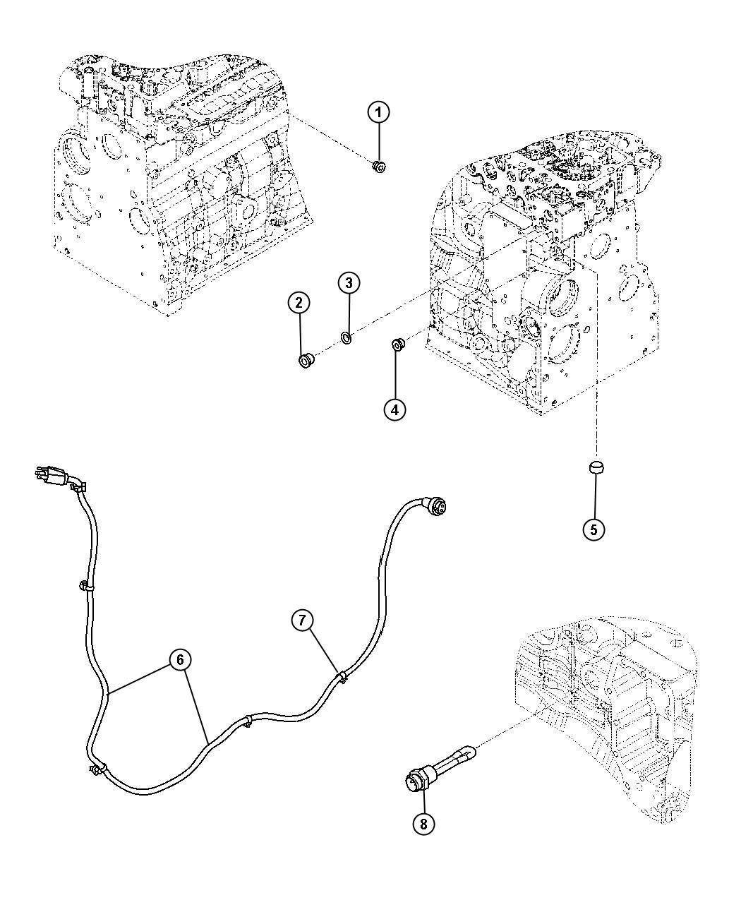 Dodge Ram Plug Cylinder Block