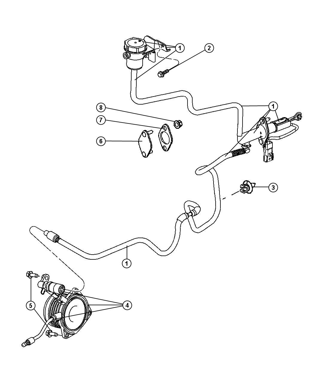 Chrysler Linkage, Clutch / LHD.