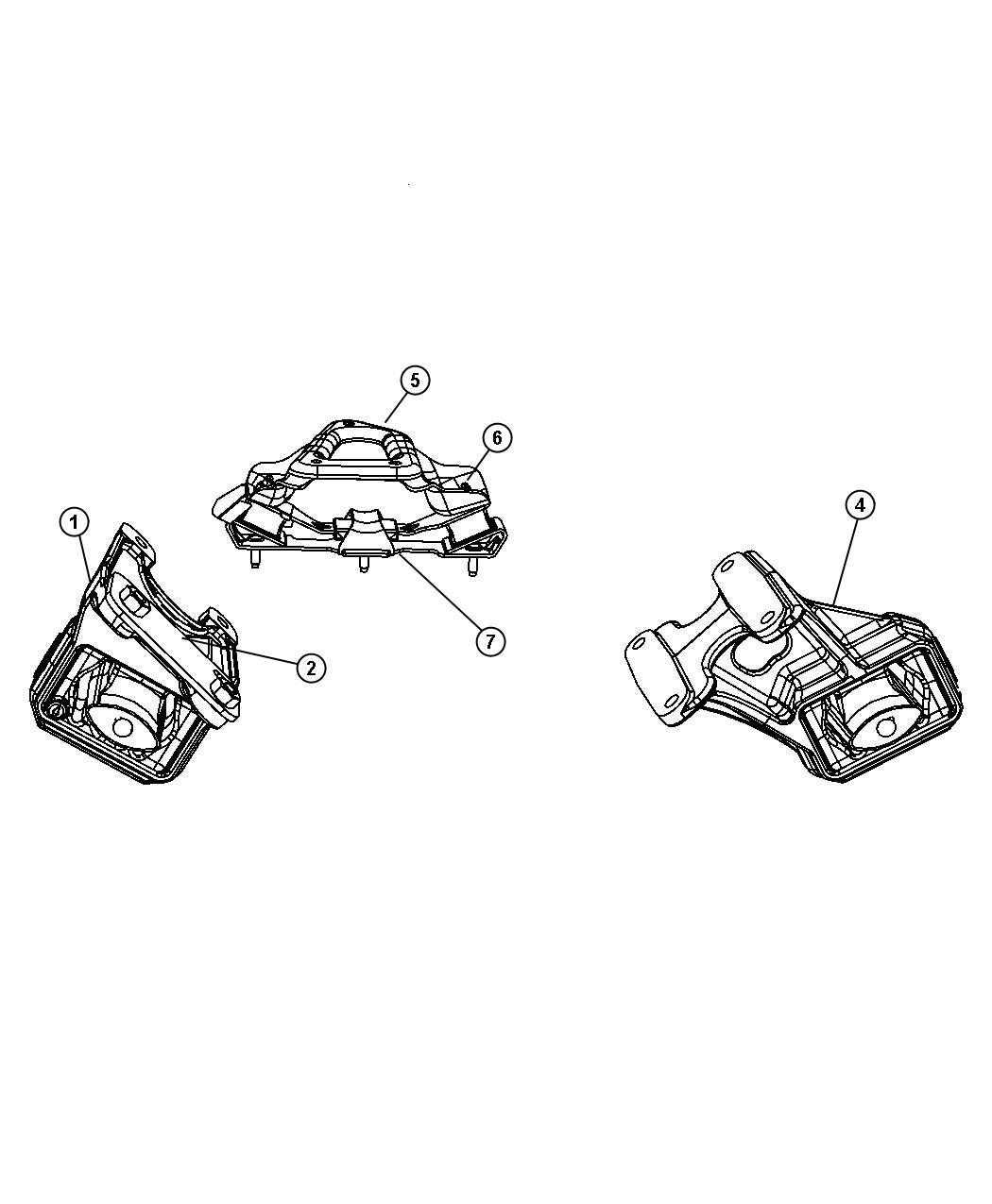 Dodge Ram 3500 Bracket, isolator, used for: bracket and