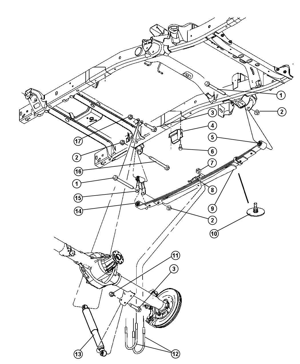 Dodge Ram Shock Absorber Suspension Rear