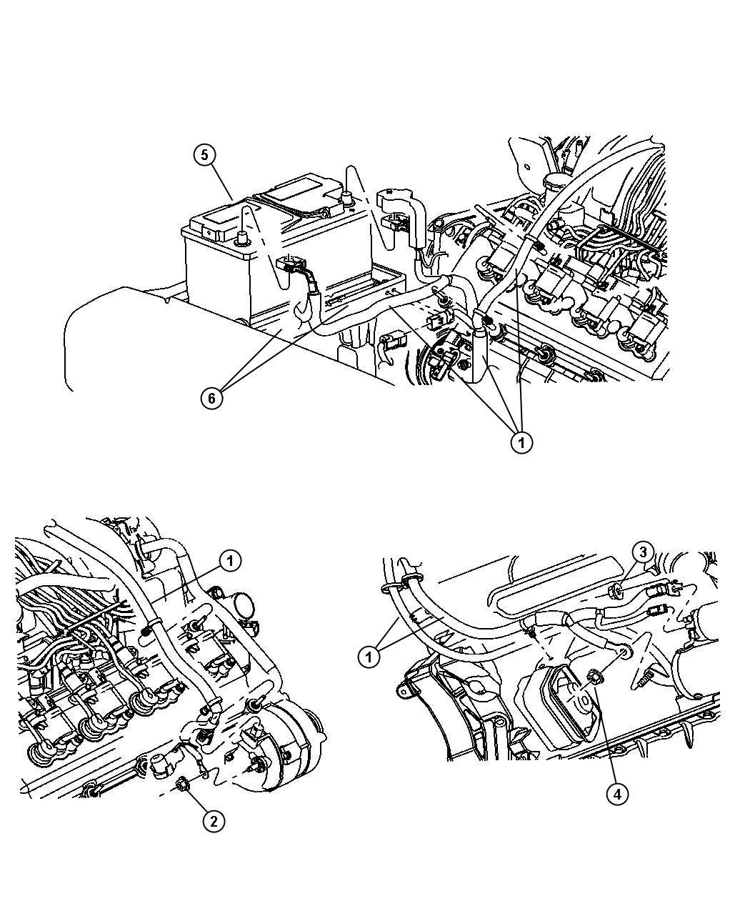 Engine Wiring Harness Jeep Commander 5 7l