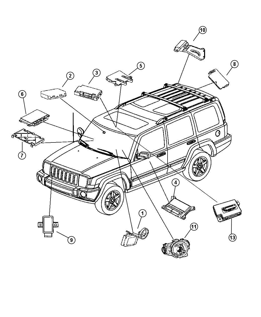 Jeep Commander Module Steering Control Wipersfog