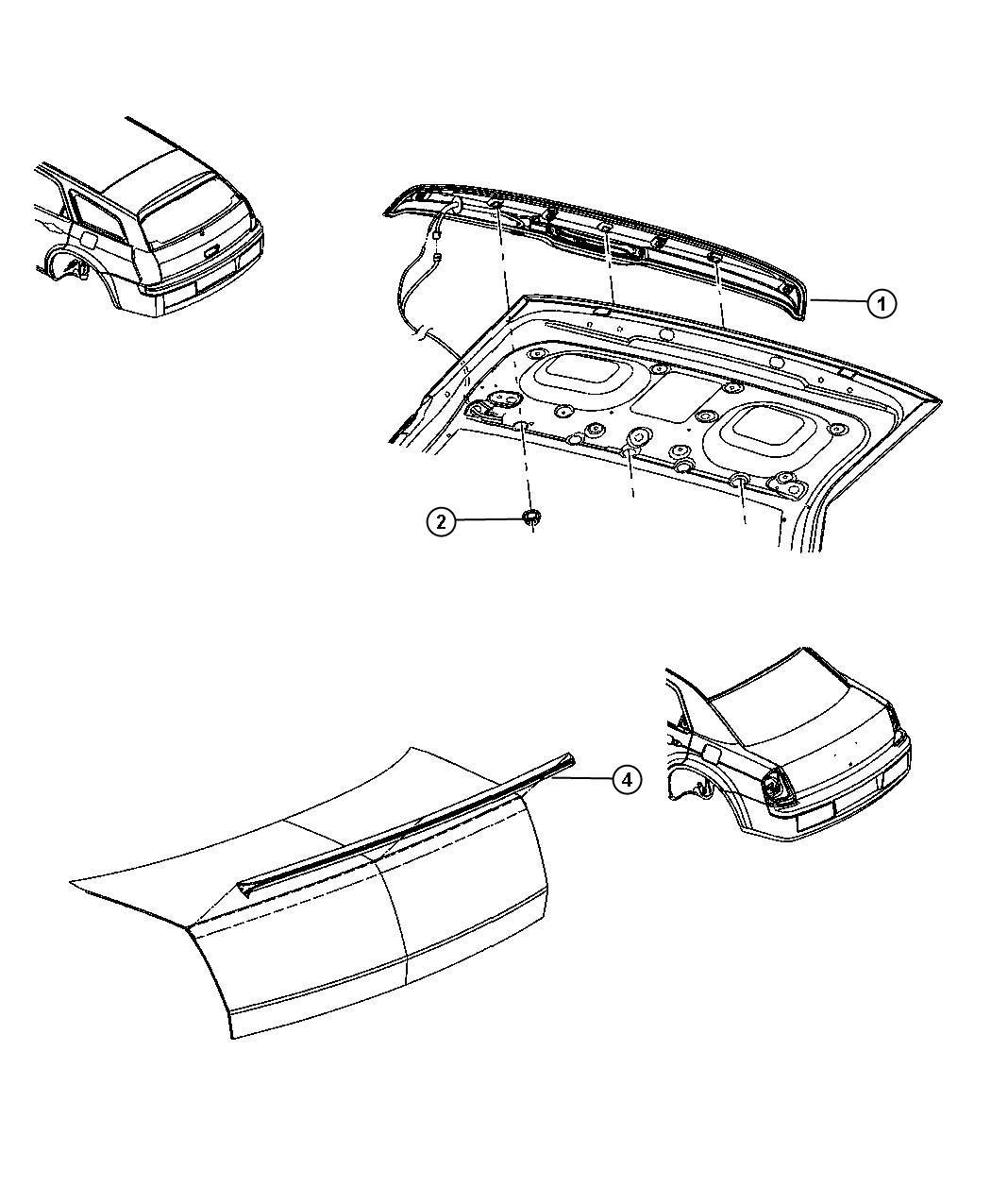 Dodge Spoiler Liftgate Rear Air Dam Color O0 Exterior Po0