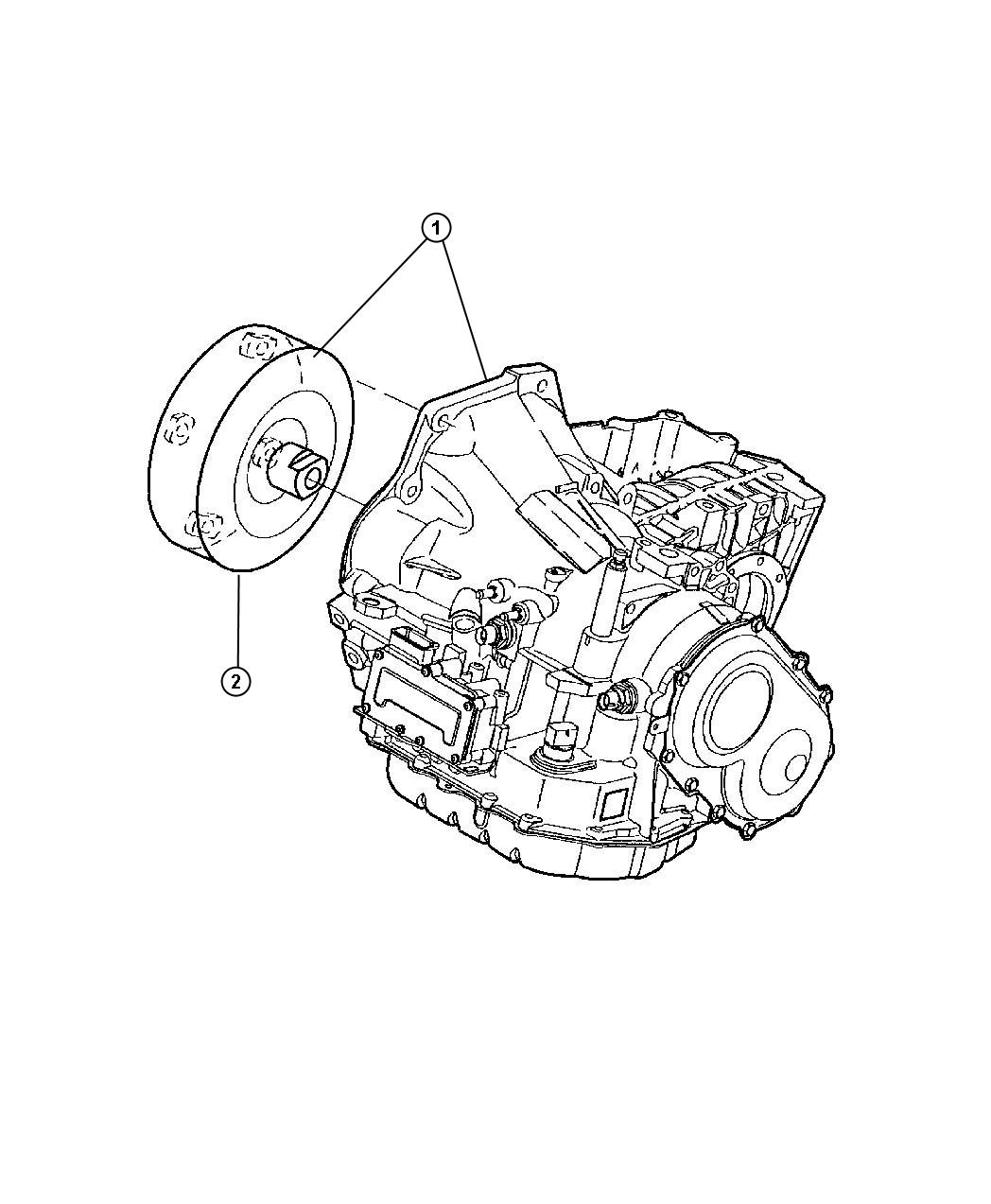 2007 Chrysler Town & Country BASE 3.3L V6 Transaxle