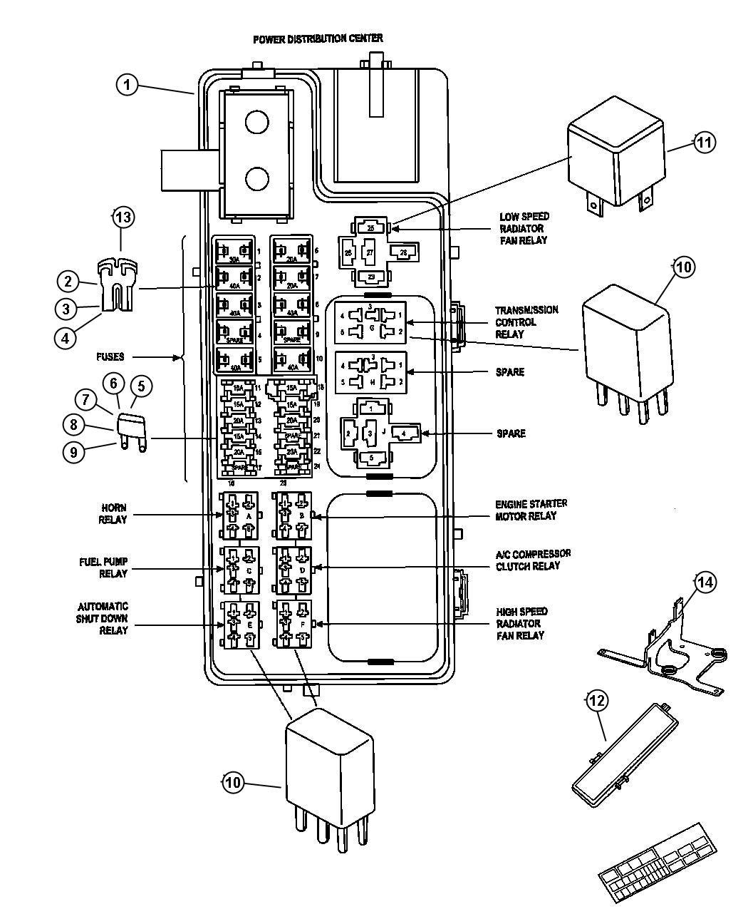 Jeep Relay Mini Radiator Fan