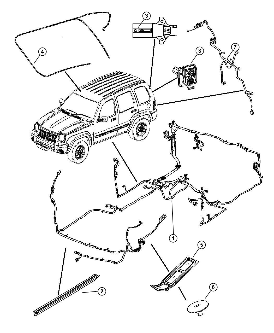 Jeep Liberty Wiring. Body. [[supplemental side air bags
