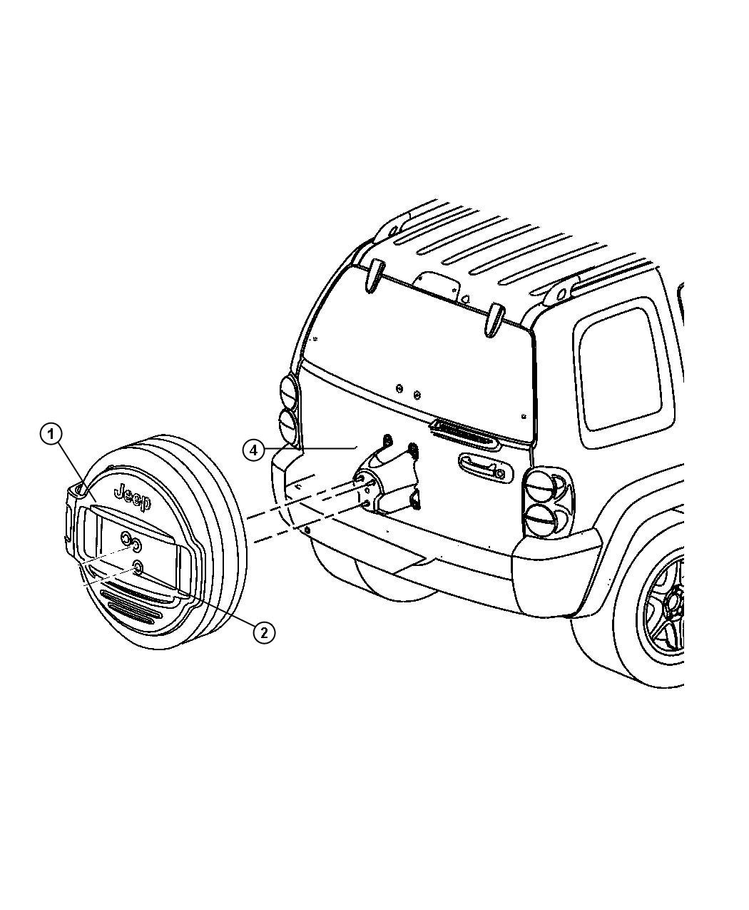 Jeep Liberty Nut 50 20 Export Outside Tire Carrier