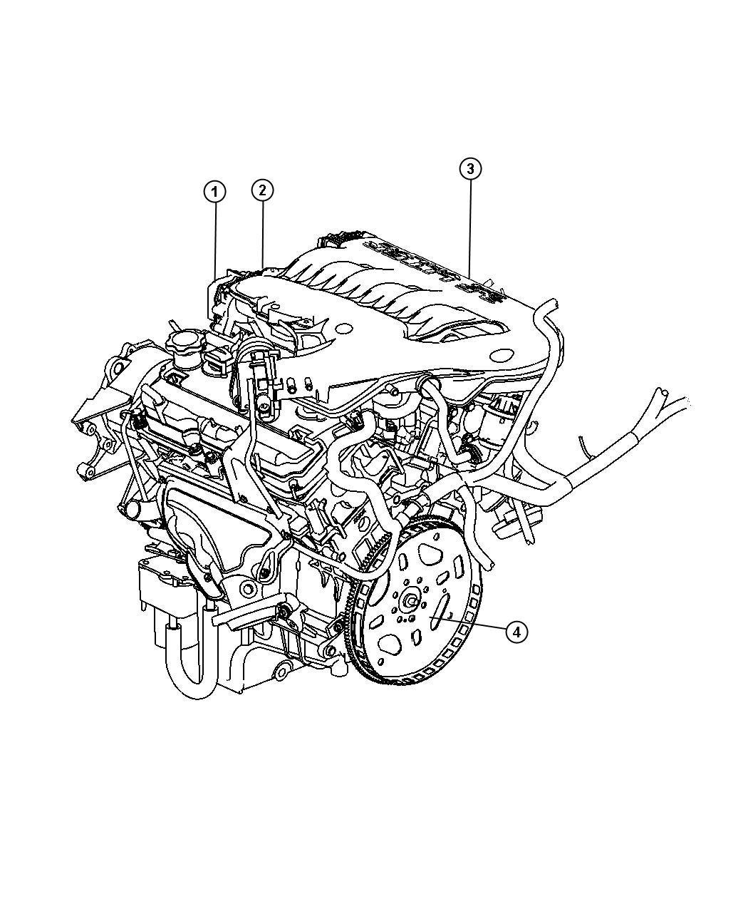 Dodge Charger Engine. Long block. Remanufactured
