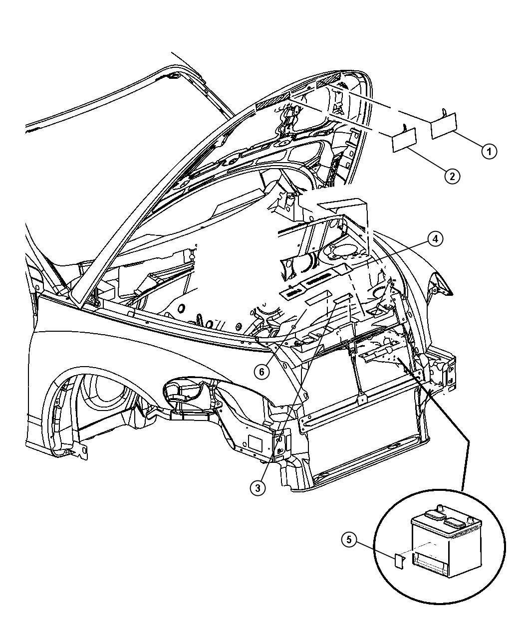 Chrysler Pt Cruiser Label. Emission. [california emissions