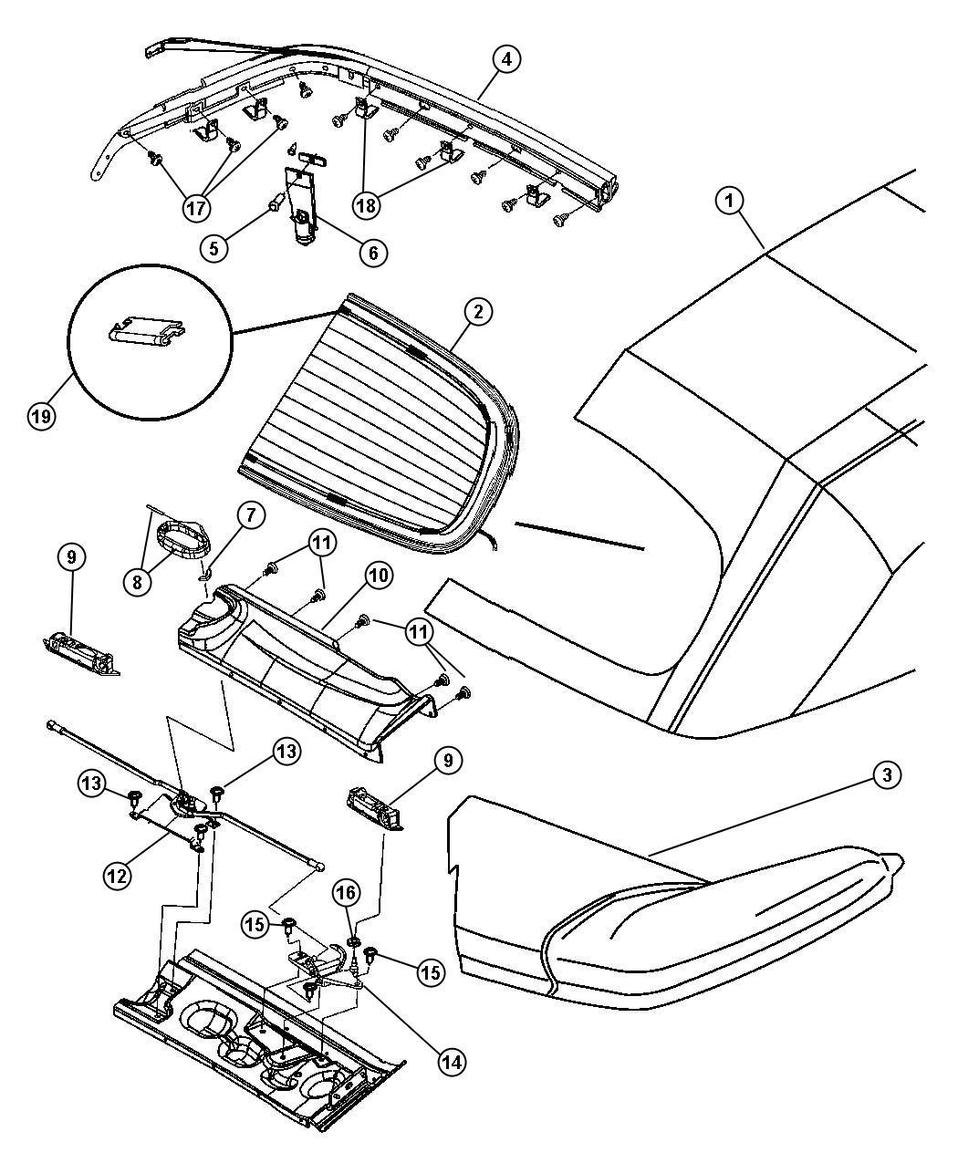 Chrysler Pt Cruiser Grommet. Dowel pin. Slingwell