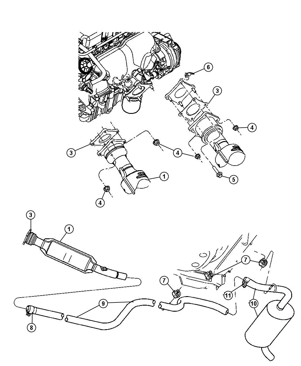 Chrysler Pt Cruiser Muffler Exhaust Large Diameter