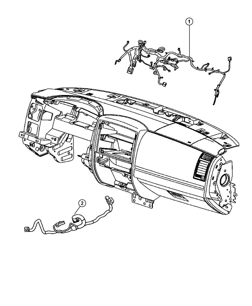 Dodge Dakota Wiring. Instrument panel. [sirius satellite