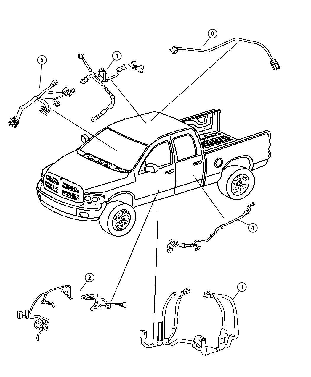 Dodge Dakota Wiring. Body. [4 speakers], [4 speakers