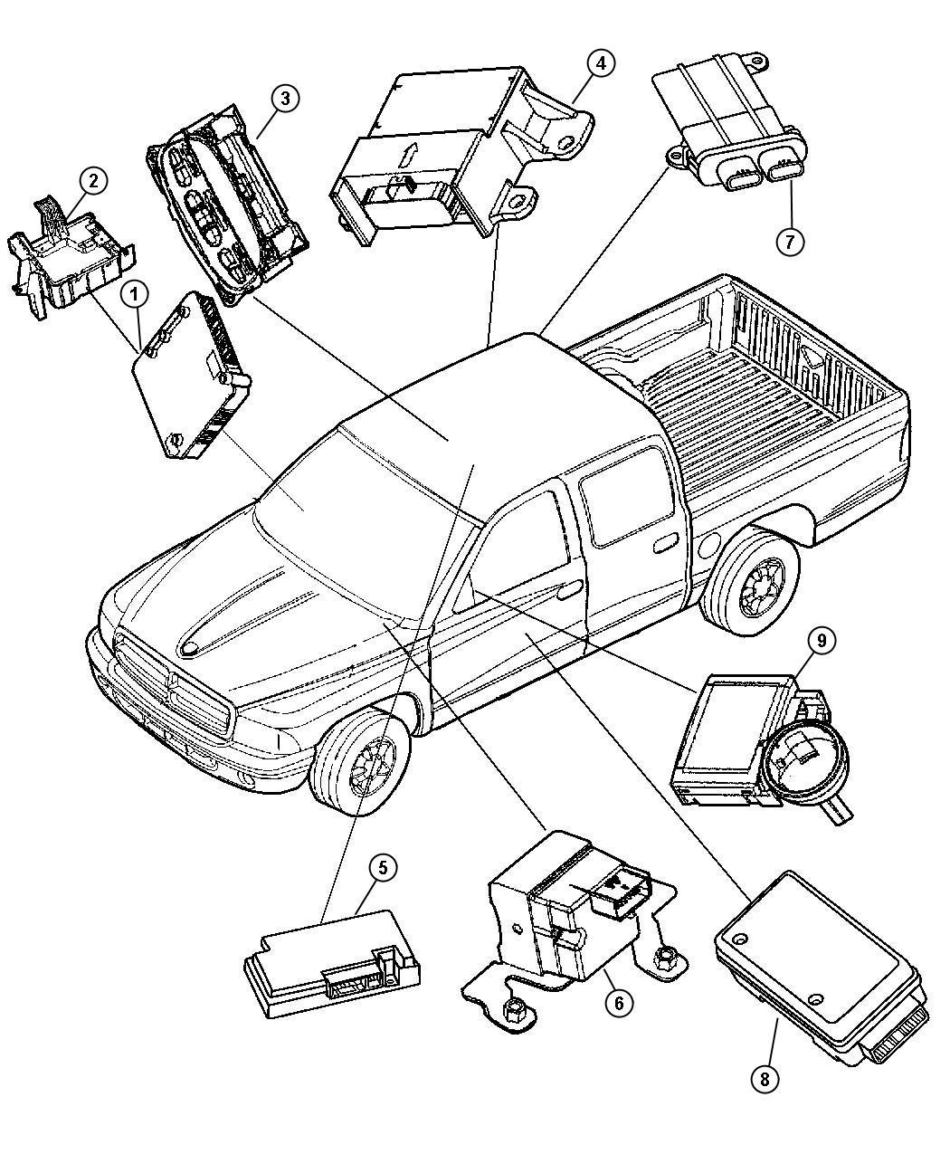 Dodge Durango Module. Telematics. Areas, located, vechile